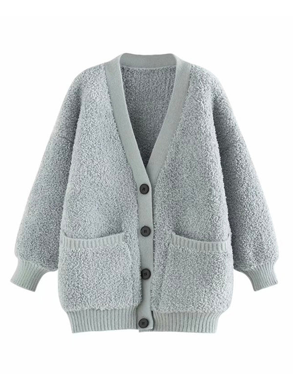 'Jamie' Fleece Button Down Cardigan (3 Colors)