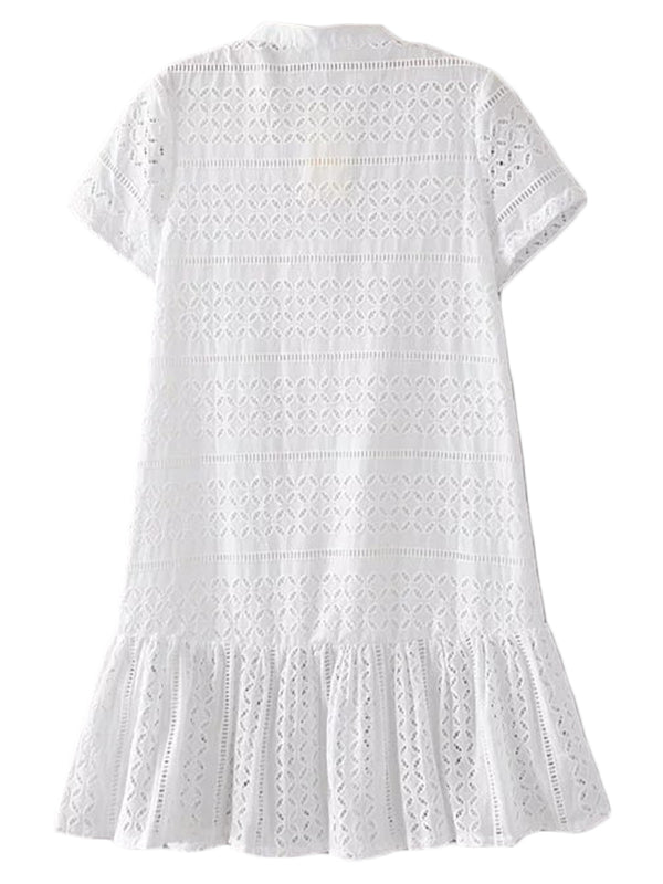 'Bleir' Broderie Anglaise Peplum Dress
