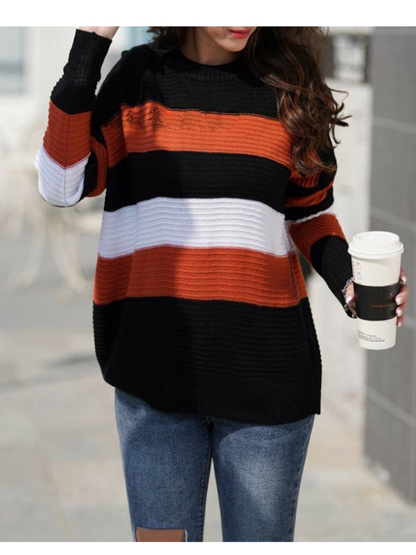 'Freda' Colorblock Buttoned Shoulder Sweater (4 Colors)