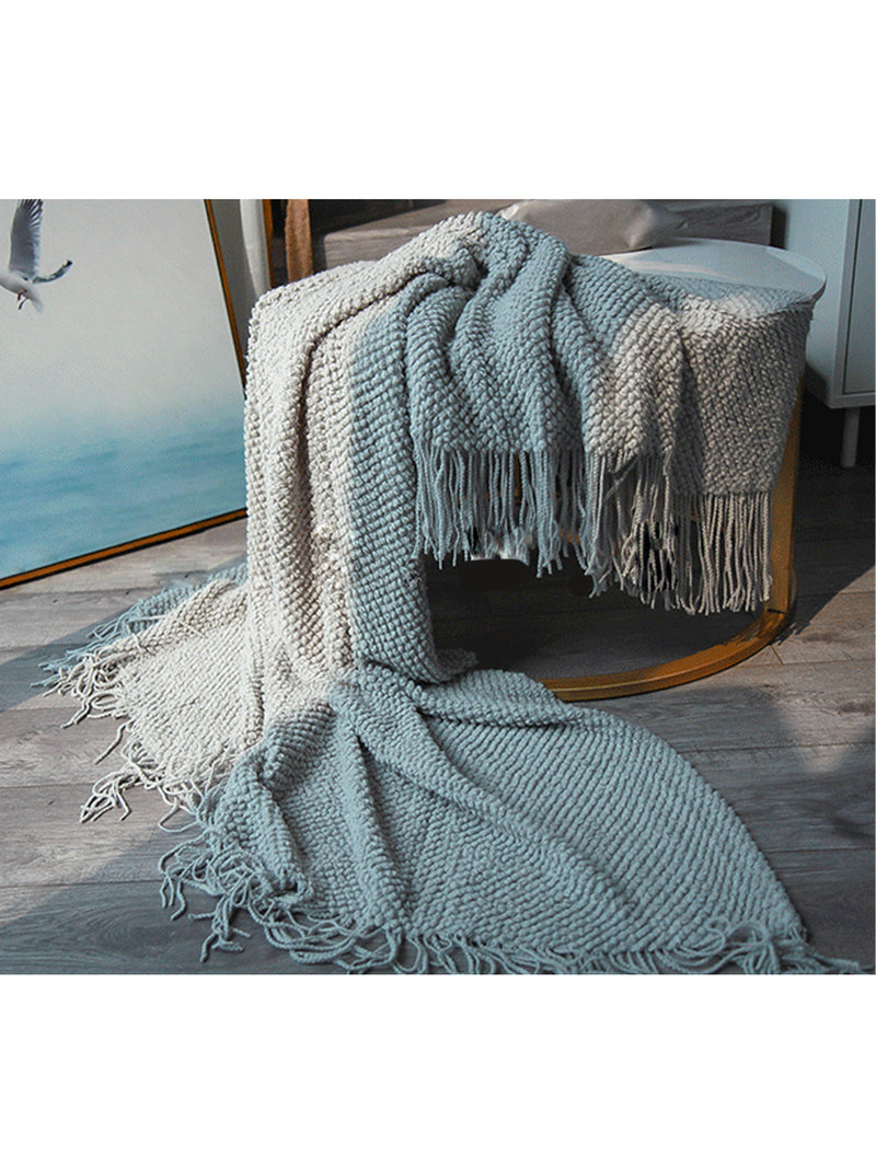 'Paris' Stay Cozy Fringe Blanket (4 Colors)