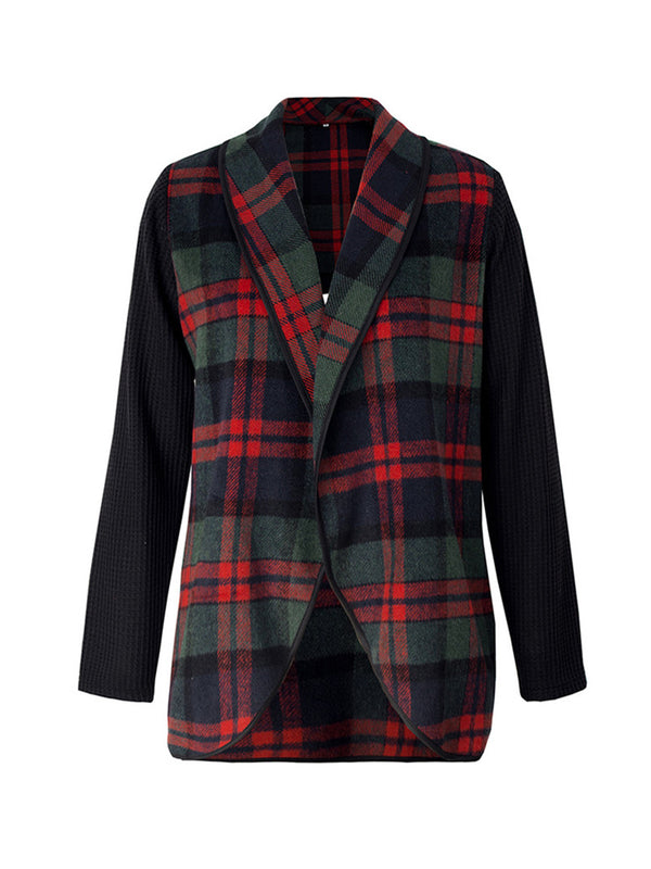 'Alicia' Plaid Knitted Jacket (2 Colors)