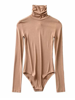 'Shin' Turtleneck Long Sleeves Bodysuit (5 Colors)