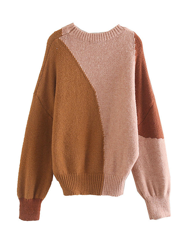 'Hani' Color Patch Crewneck Sweater