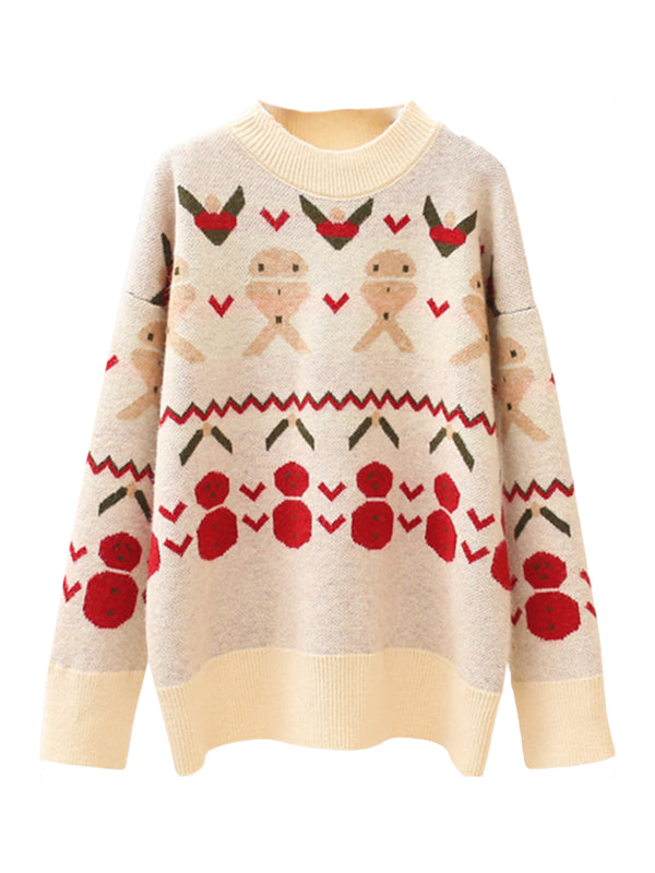'Snowman' Christmas Pattern Sweater (2 Colors)