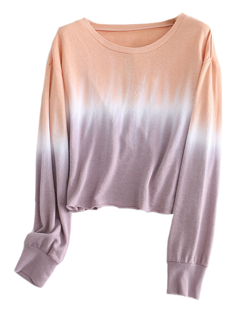 'Dale' Two-tone Tie Dye Sweatshirt