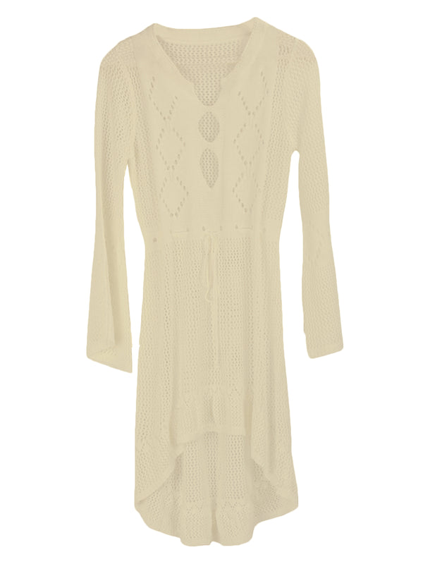 'Carty' Knitted Eyelet Beach Cover-up (6 Colors)