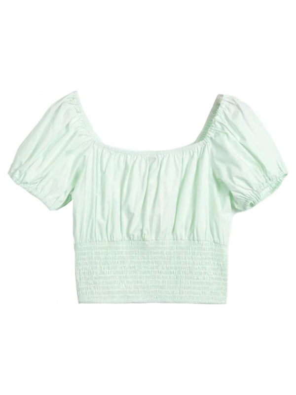'Chu' Ruched Cropped Top