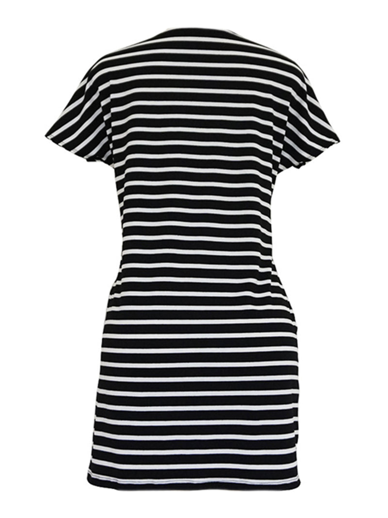 'Roxy' Front Tied T-shirt Dress (5 Colors)