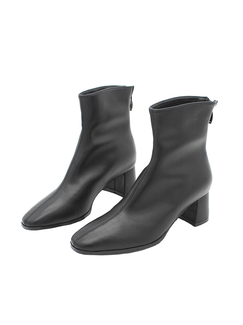 'Gabriele' Faux Leather Heeled Ankle Boots (2 Colors)