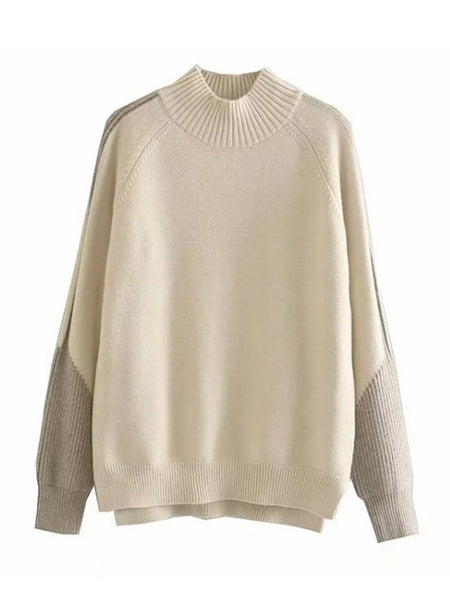 'kelly' Ribbed Bi Color Sweater (3 Colors) by Goodnight Macaroon