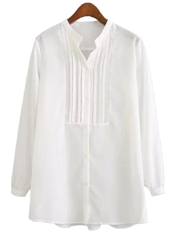 'Hollis' White Frilly Shirt