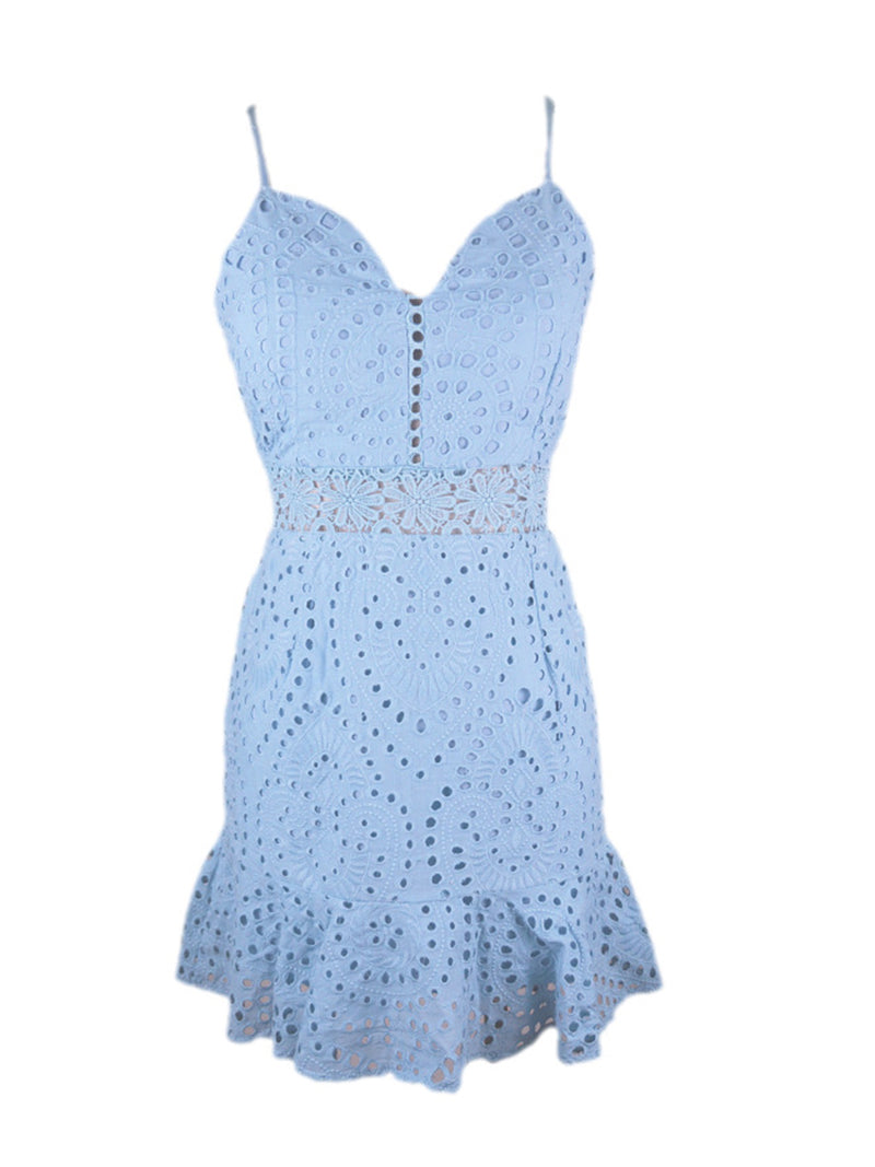 'Laura' Cami Lace Eyelet Dress (5 Colors)