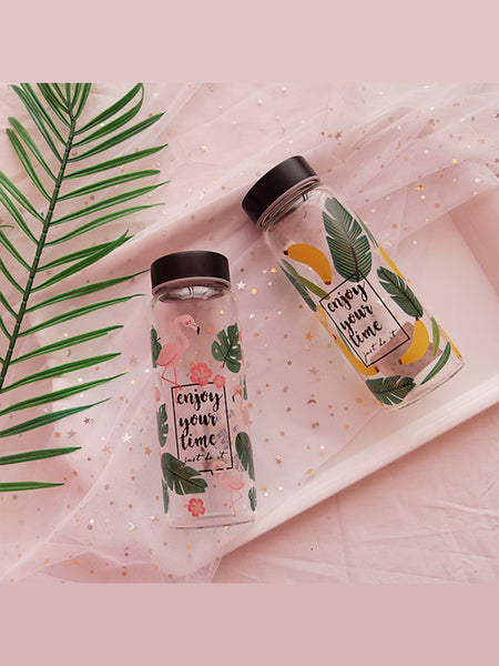 'cheryl' Print Water Glass Bottle (2 Styles) by Goodnight Macaroon