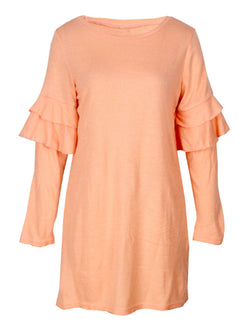 'Eunice' Ruffled Sleeve Dress (3 Colors)