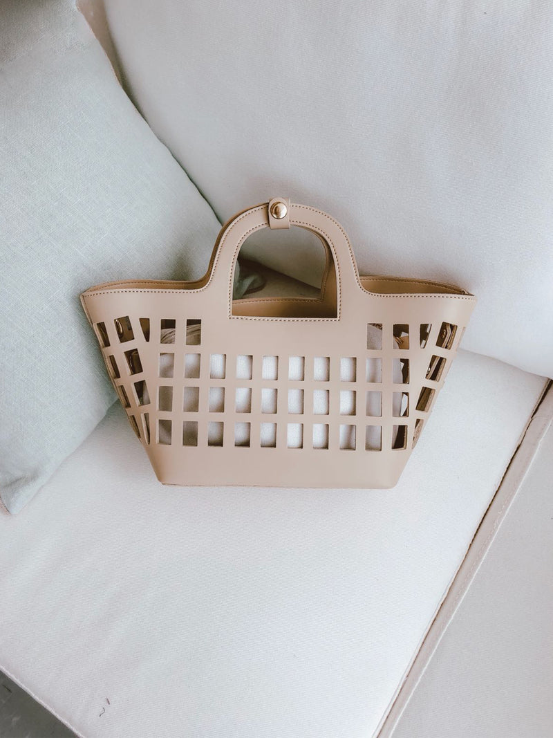 'Lien' Cut-out Basket Bag (4 Colors)