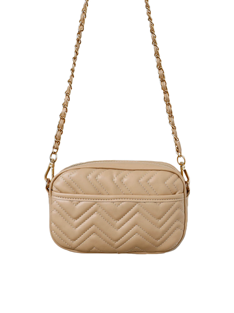 'Breana' Chevron Quilted Shoulder Bag (3 Colors)