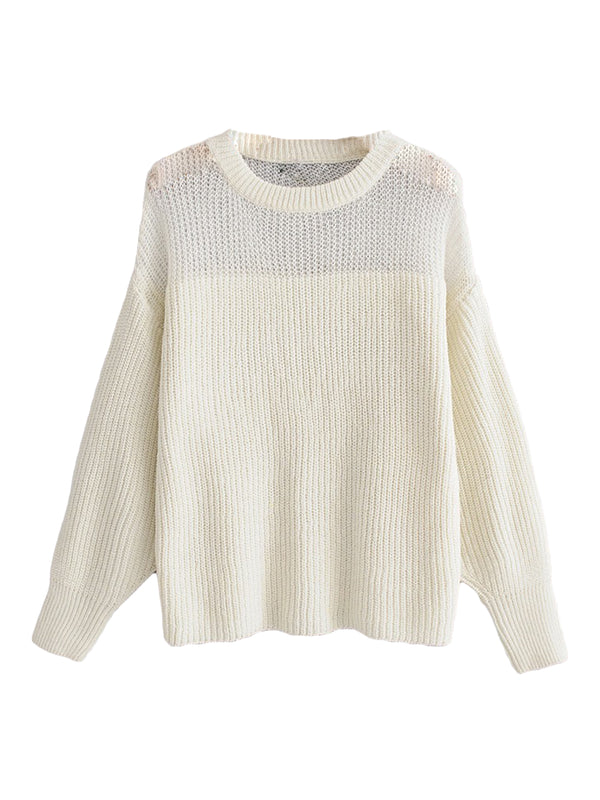 'Jade' Half Sheer Sweater (3 Colors)