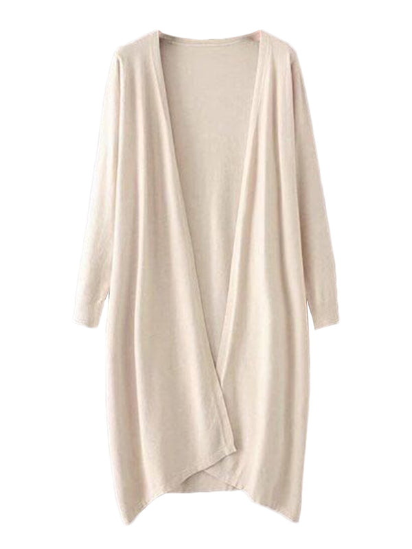 'Aiko' Basic Soft Wrap Thin Long Cardigan (5 Colors)