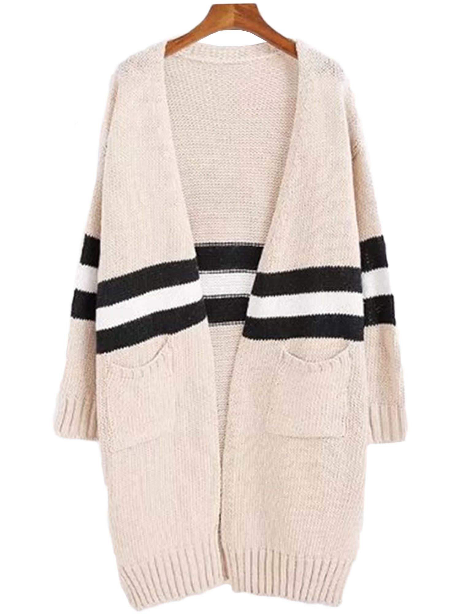 'Estrella' Topshop Stripe Colorblock Cardigan Goodnight Macaroon