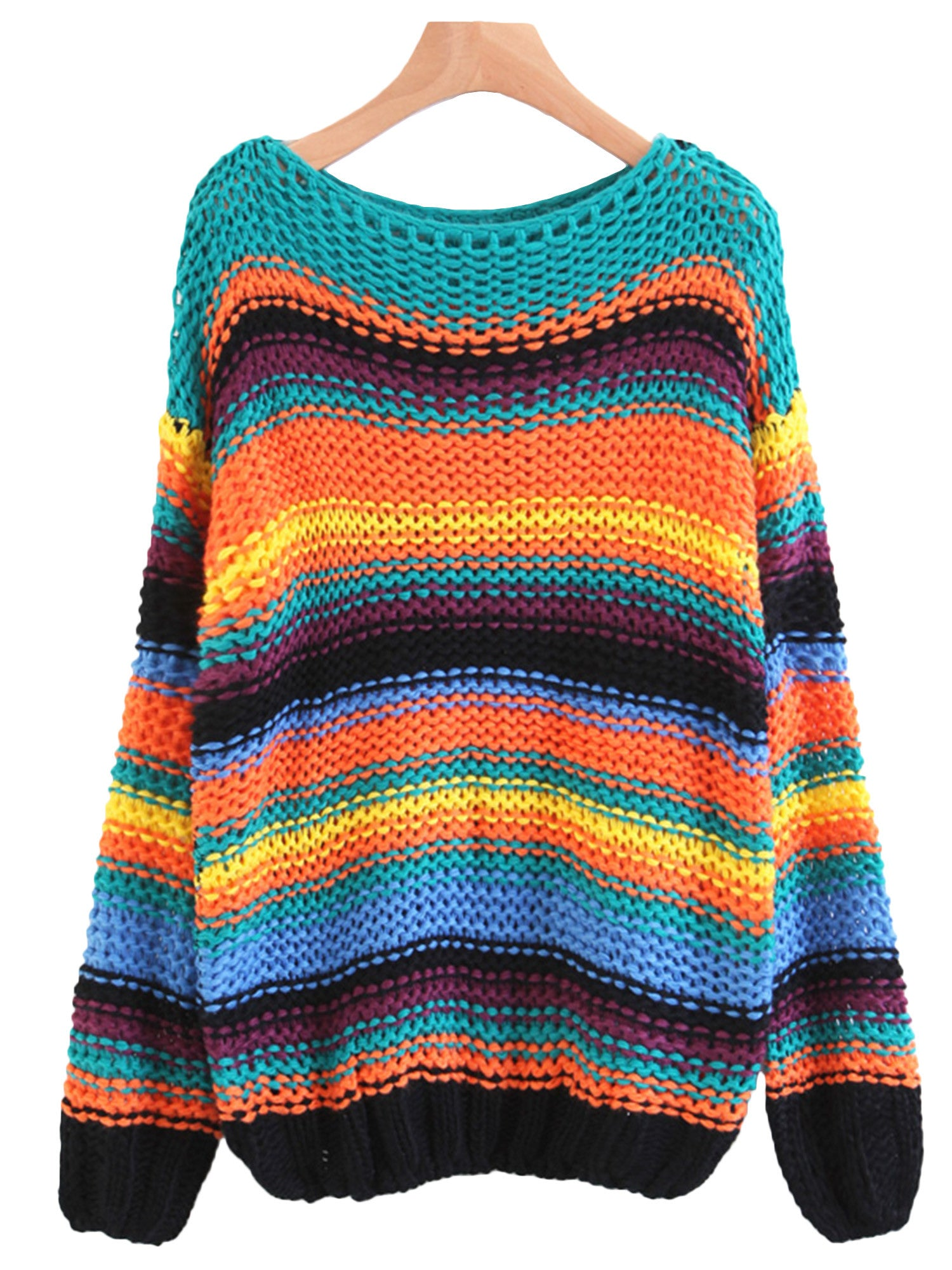 Pura' Multicolor Striped Sweater – Goodnight Macaroon