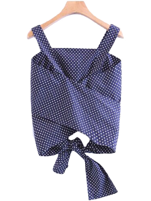 'Kay' Polka Dot Wrap Tied Top