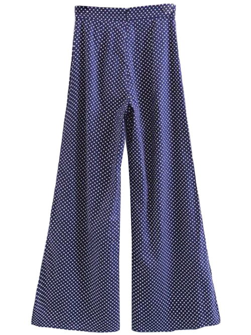 'Inez' Wide Leg Polka Dot Trousers