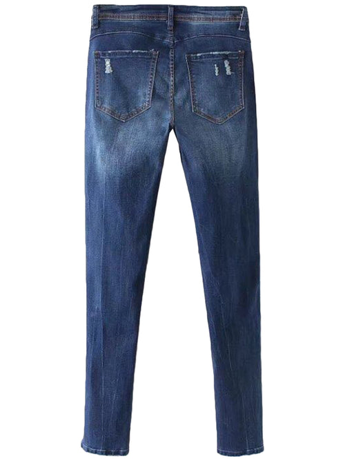 'Kina' Dark Washed Distressed Jeans
