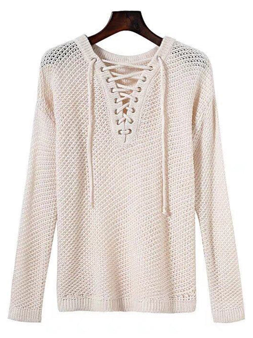 'Makenna' Lace Up Sweater