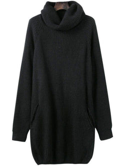 'Diana' Turtleneck Knit Dress