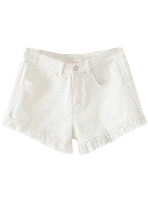 'Kaylin' Distressed Hem Shorts ( 3 Colors )