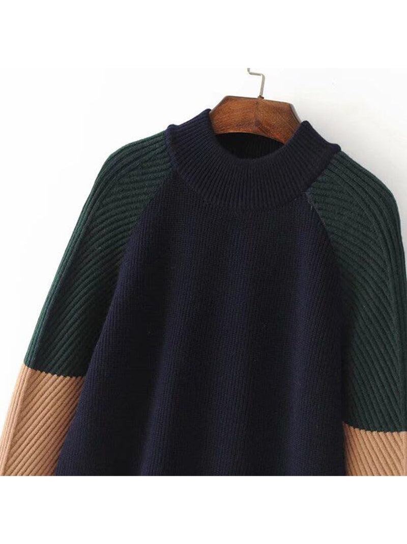 'Liam' Color Block Crewneck Sweater ( 3 Colors Available )