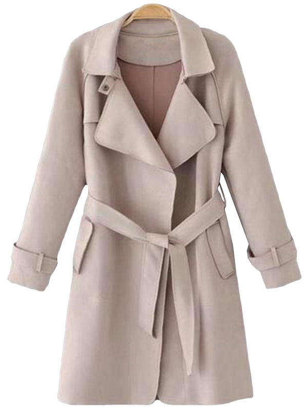 'Laine' Tied Trench Coat