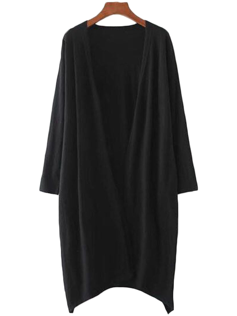 Black Soft Long cardigan by Goodnight Macaroon