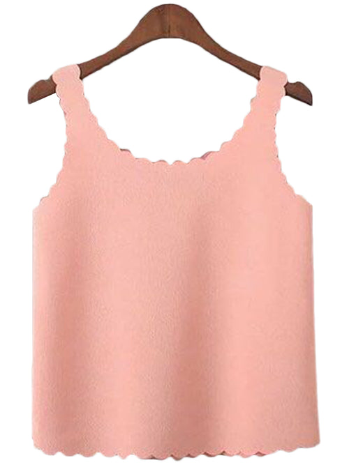 'Talia' Scallop Edge Crop Top