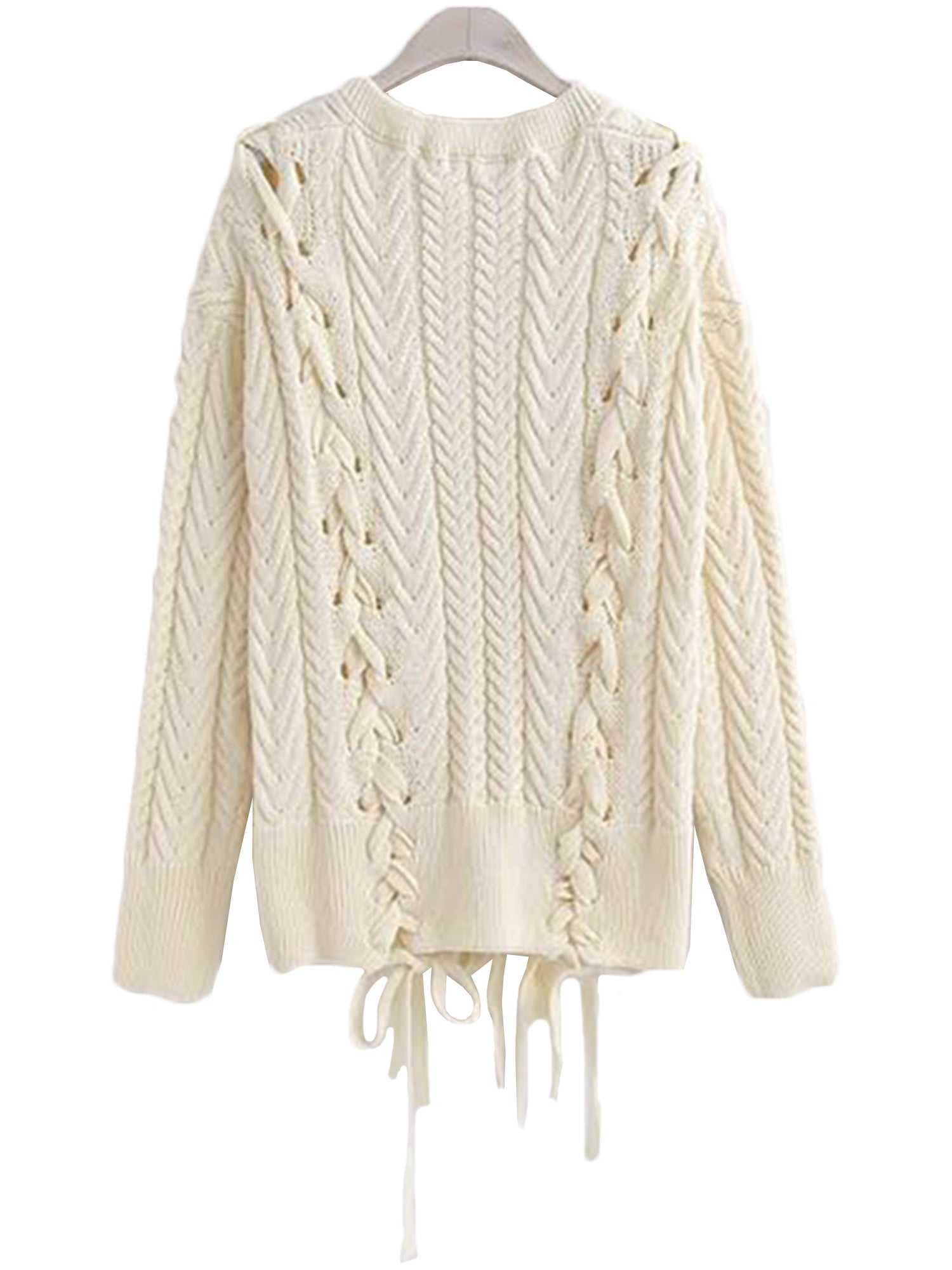 'Lani' V-neck Criss Cross Tied Sweater