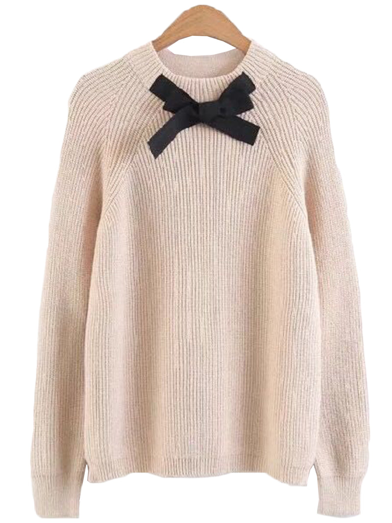 'Scottie' Front Bow Sweater
