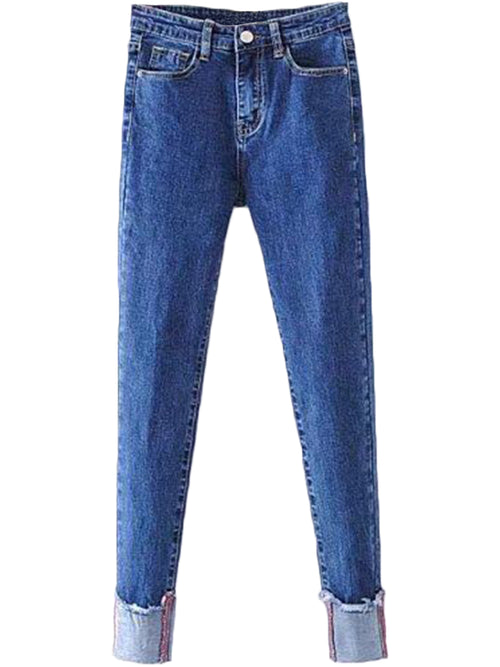 'Rosanne' Tapered and Cuffed Jeans ( 2 Colors Available )