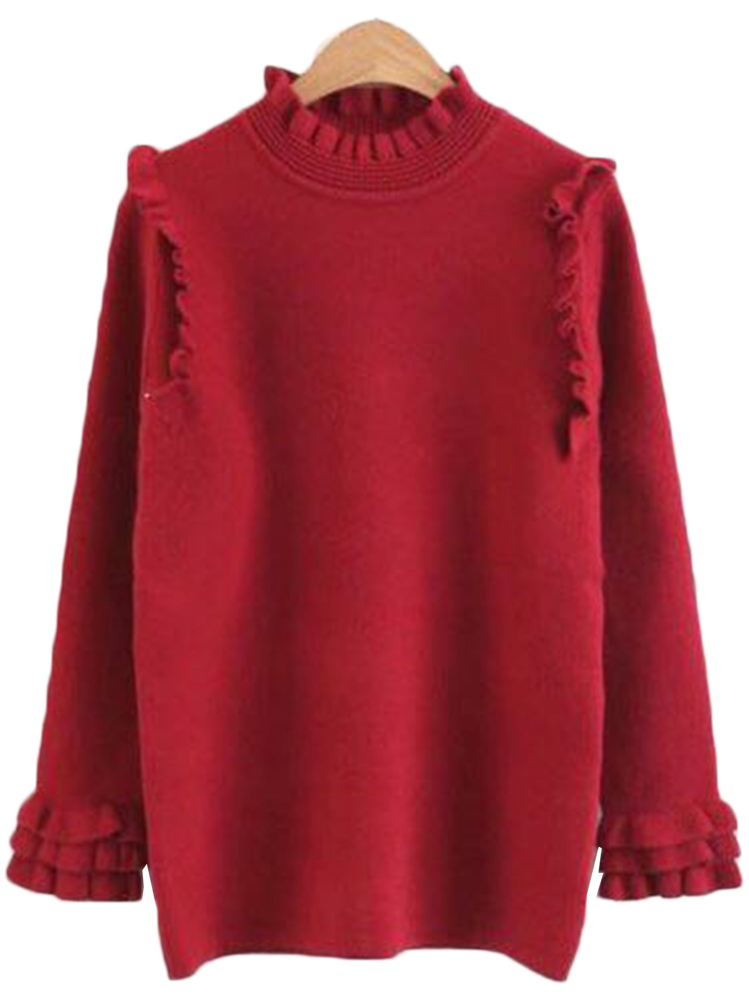 'Sadie' Frilly Knit Sweater ( 3 Colors Available )
