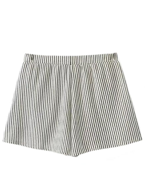 'Ella' Striped Jersey Shorts