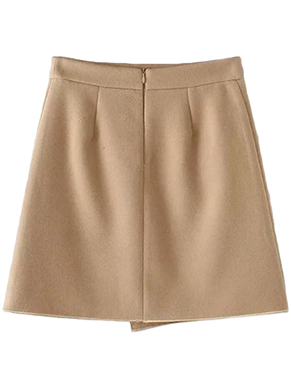 Goodnight Macaroon 'Amanda' A-line Structured Mini Skirt Back