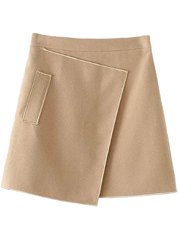 Goodnight Macaroon 'Amanda' A-line Structured Mini Skirt Front