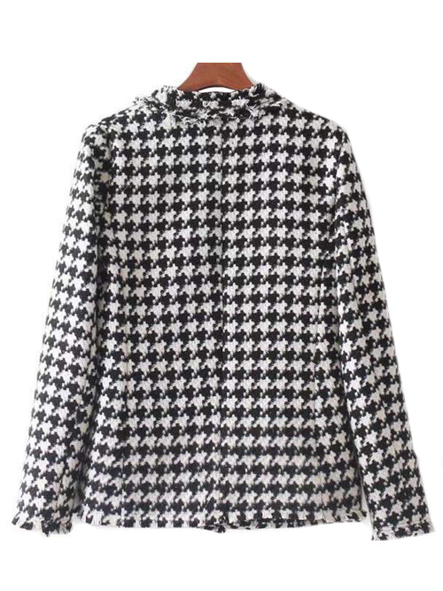 'Siu' Houndstooth Jacket