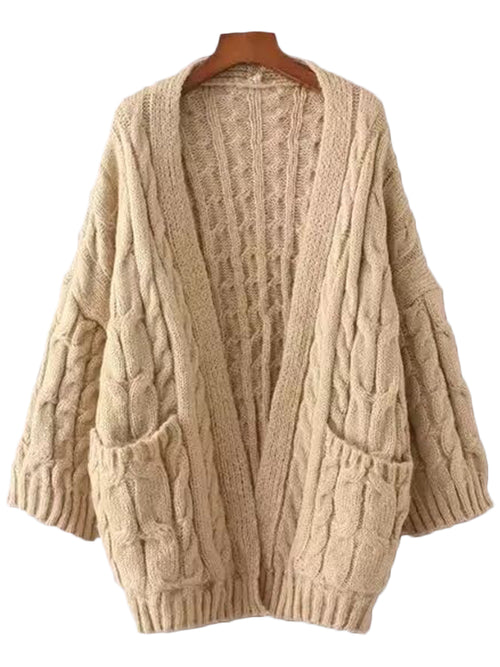 'Yolanda' Cable-knit Cardigan ( 5 Colors Available )