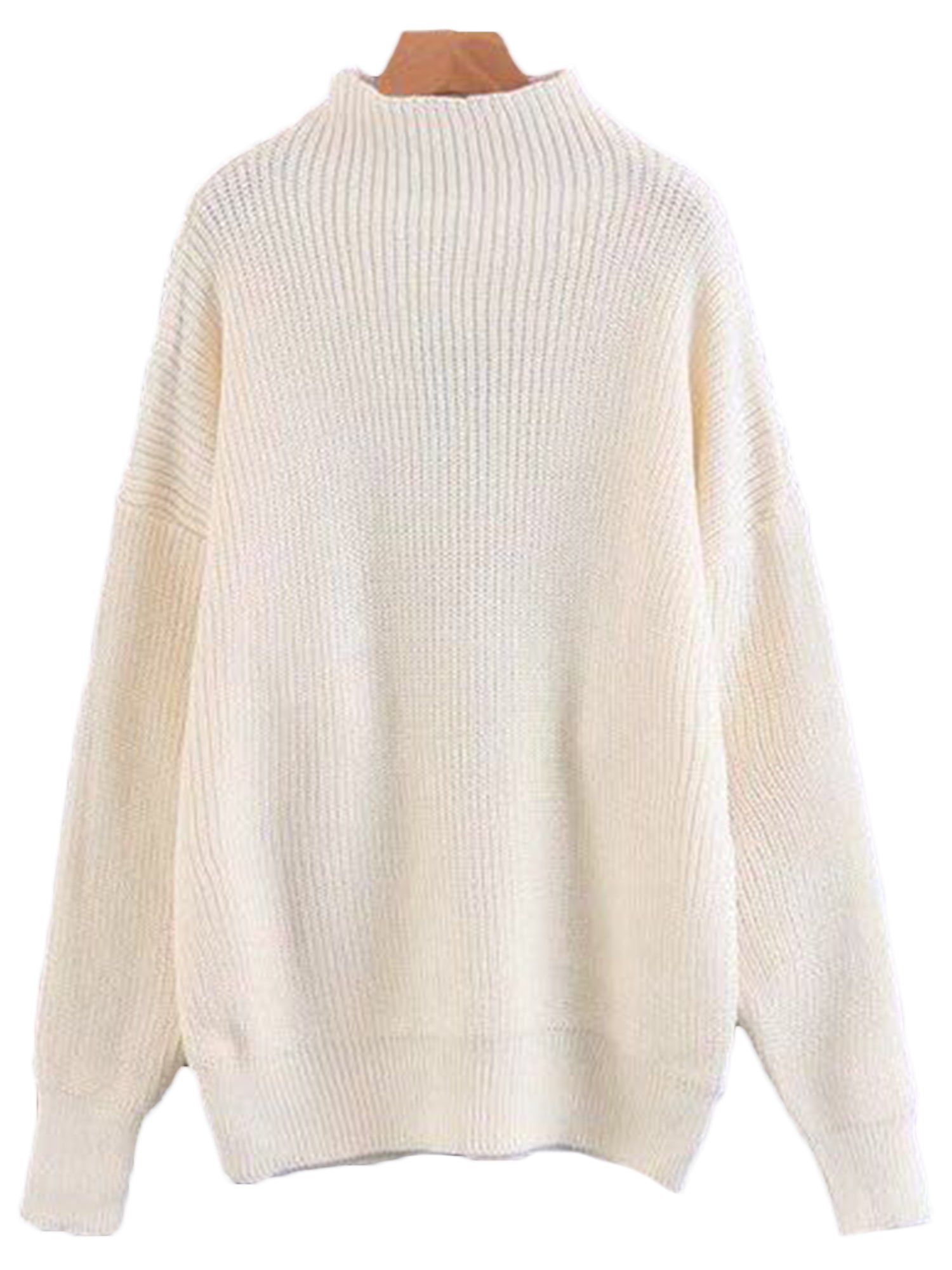 'Thelma' High-neck Knitted Sweater (4 Colors)