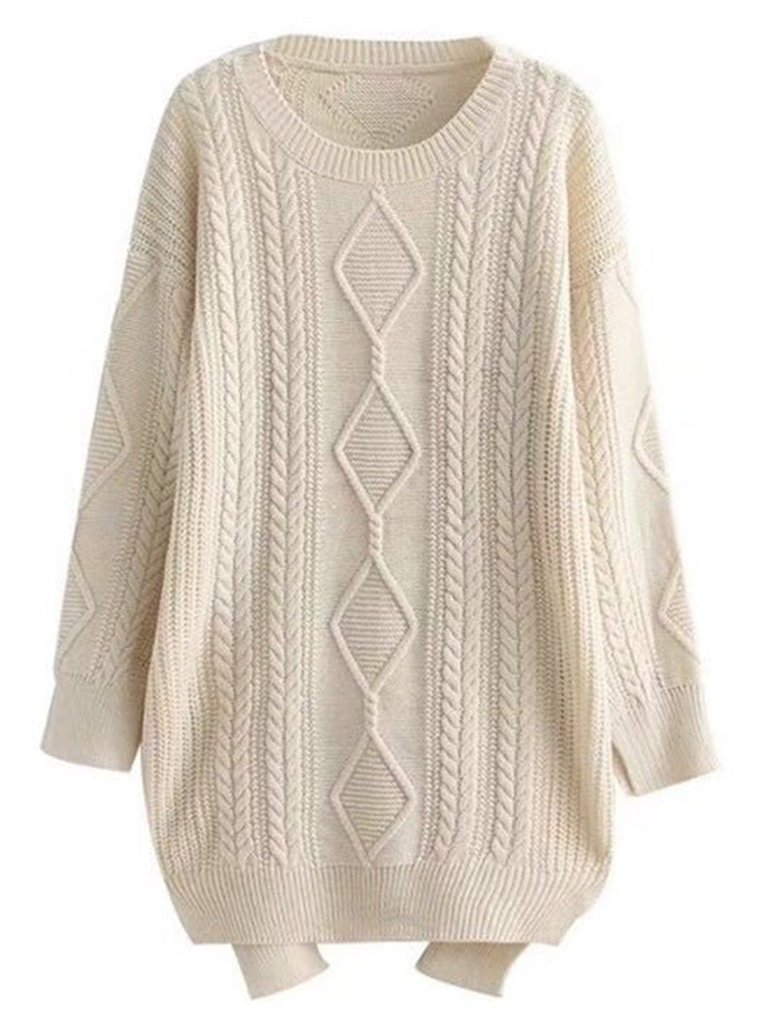 'Rowena' Knitted Longline Sweater (3 Colors)