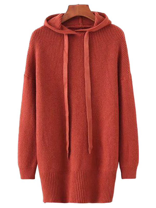 'Nicolette' Knitted Hoodie Dress (3 Colors)