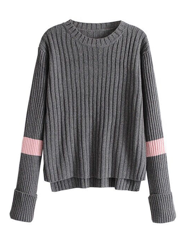 'Josephine' Sporty Colorblock Sleeve Sweater (2 Colors)