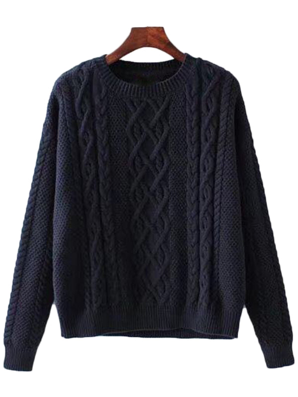 'Willie' Mixed-knit Crewneck Sweater ( 2 Colors )
