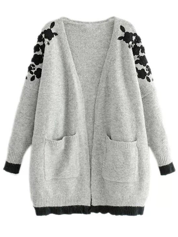 'Sandra' Embroidered Sleeve Cardigan