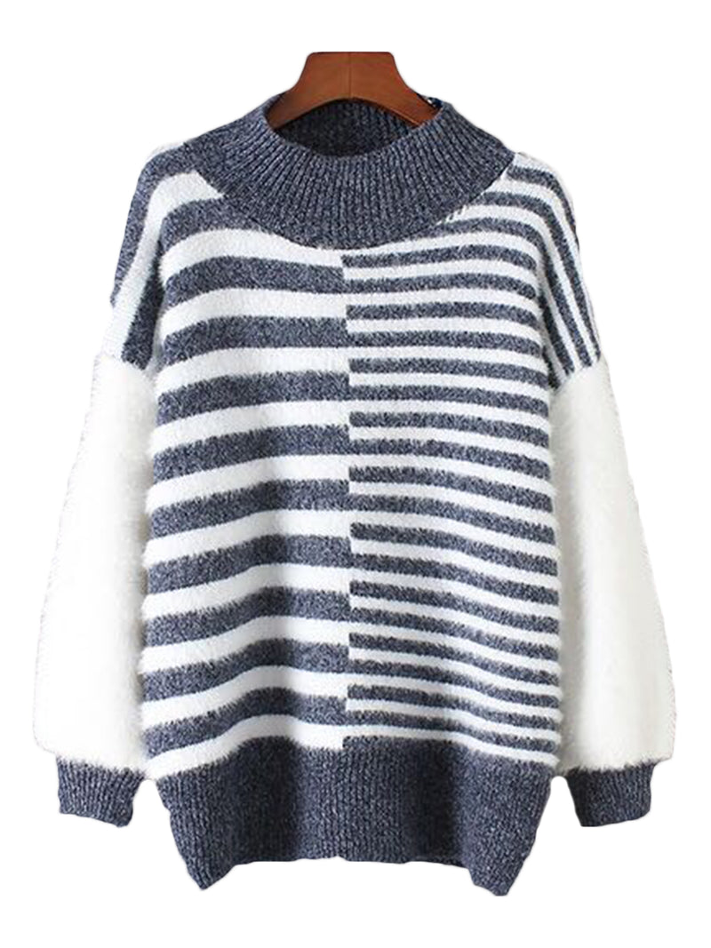 'Tish' Soft Stripe Pattern Sweater (3 Colors)